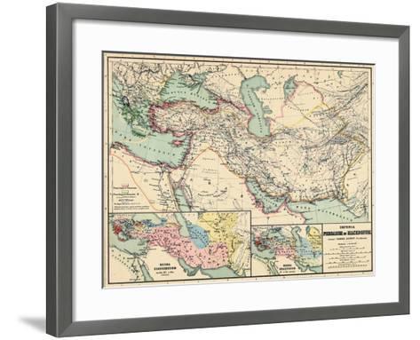 1898, 500 BC, Egypt, Libya, Armenia, Iran, Iraq, Saudi Arabia, Syria, Turkey, Jordan--Framed Art Print