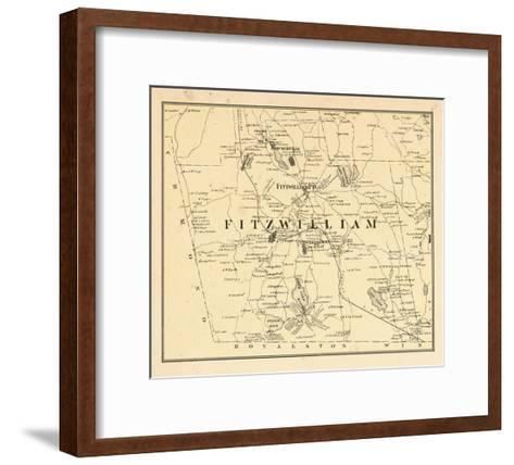 1877, Fitzwilliam Township, Bokerville, Sip Pond, South Pond, New Hampshire, United States--Framed Art Print