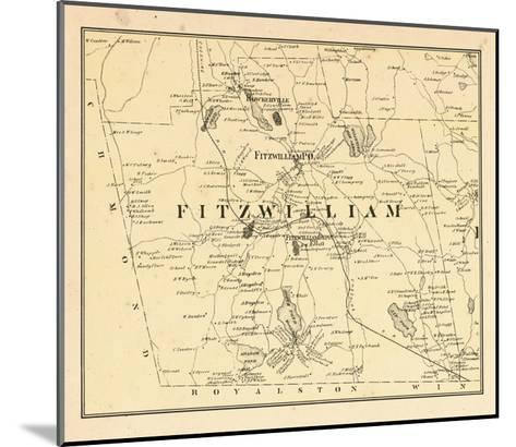 1877, Fitzwilliam Township, Bokerville, Sip Pond, South Pond, New Hampshire, United States--Mounted Giclee Print