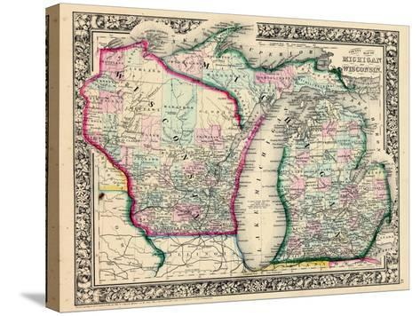 1864, Michigan and Wisconsin, United States--Stretched Canvas Print