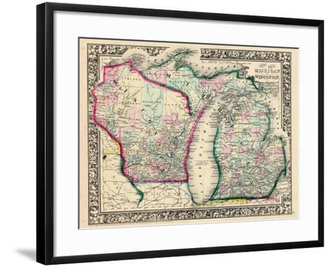 1864, Michigan and Wisconsin, United States--Framed Art Print