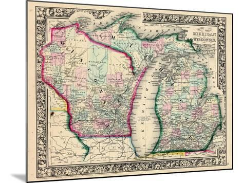1864, Michigan and Wisconsin, United States--Mounted Giclee Print