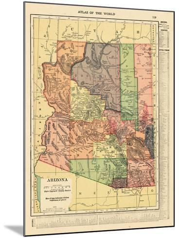 1914, Arizona State Map 1914, Arizona, United States--Mounted Giclee Print