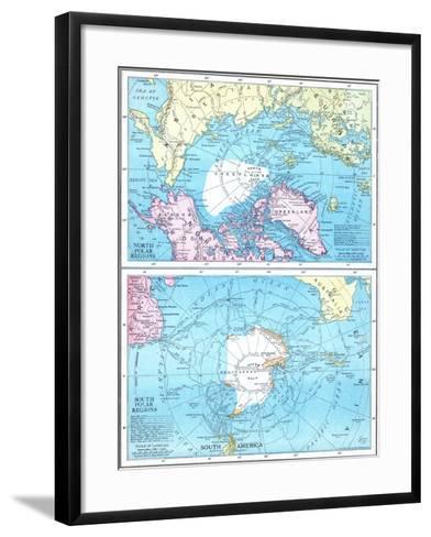 1913, North Pole, South Pole, North and South Polar Regions--Framed Art Print