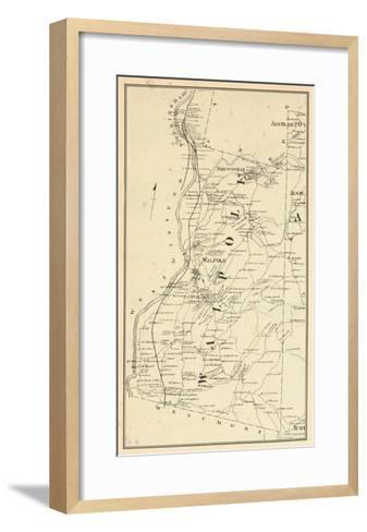 1877, Walpole Township, Alsted, Drewsville, New Hampshire, United States--Framed Art Print
