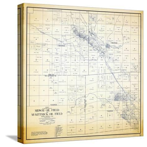 1921, Kern County Midway and McKittrick Oil Fields, California, United States--Stretched Canvas Print