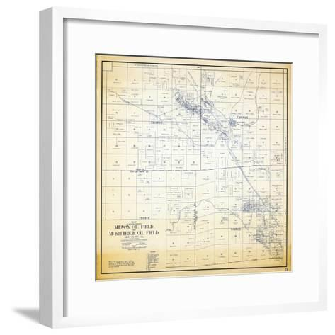 1921, Kern County Midway and McKittrick Oil Fields, California, United States--Framed Art Print