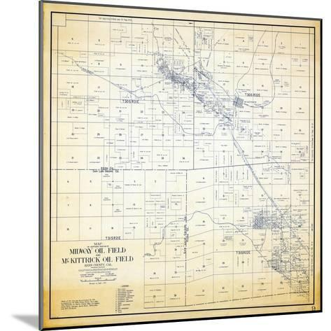 1921, Kern County Midway and McKittrick Oil Fields, California, United States--Mounted Giclee Print