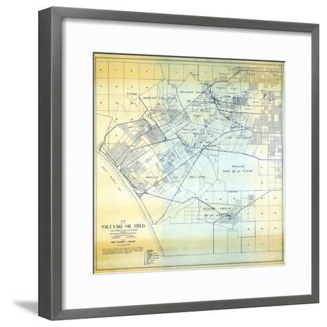 1919, Los Angeles Salt Lake Oil Field, California, United States--Framed Art Print