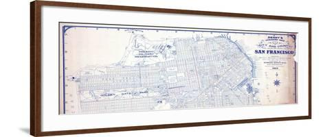 1919, San Francisco Indexed Map of the City and County, California, United States--Framed Art Print