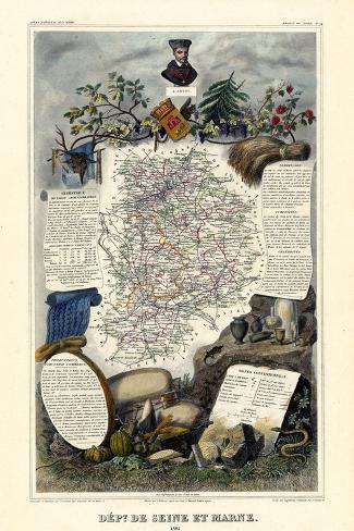 1885, France, Wine Regions of France - North--Stretched Canvas Print
