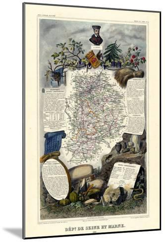 1885, France, Wine Regions of France - North--Mounted Giclee Print