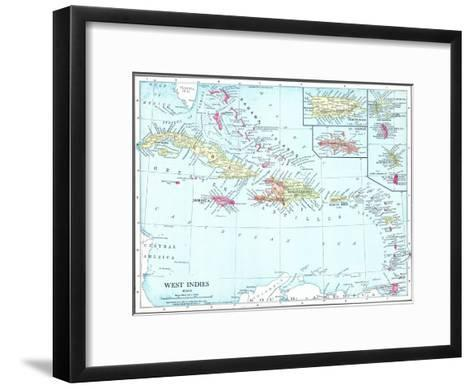 1913, Bahamas, The, Cuba, Dominican Republic, Jamaica, Puerto Rico, Central America, West Indies--Framed Art Print
