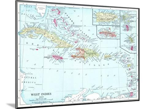 1913, Bahamas, The, Cuba, Dominican Republic, Jamaica, Puerto Rico, Central America, West Indies--Mounted Giclee Print