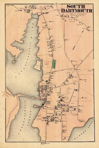 1871, Dartmouth South, South Dartmouth, Massachusetts, United States--Stretched Canvas Print