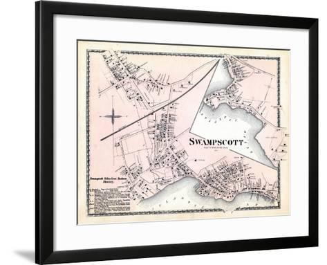 1872, Swampscott Center, Massachusetts, United States--Framed Art Print