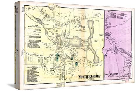 1871, Easton Town North, North Easton Town, South Easton Town, Massachusetts, United States--Stretched Canvas Print