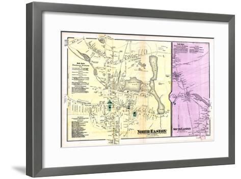 1871, Easton Town North, North Easton Town, South Easton Town, Massachusetts, United States--Framed Art Print