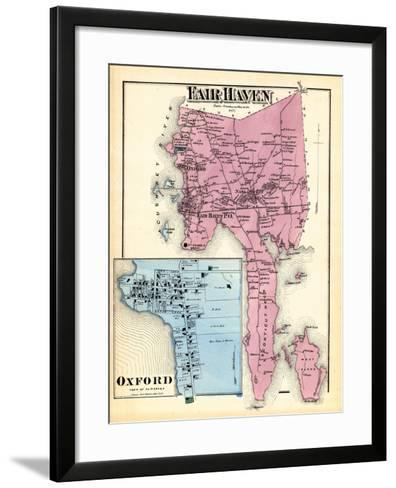 1871, Fair Haven, Oxford Town, Massachusetts, United States--Framed Art Print