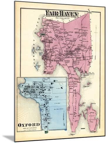 1871, Fair Haven, Oxford Town, Massachusetts, United States--Mounted Giclee Print