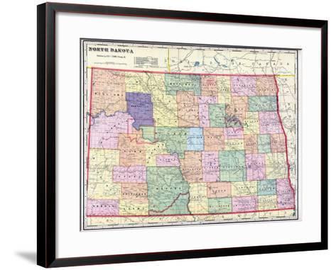 1911, North Dakota State Map, North Dakota, United States--Framed Art Print