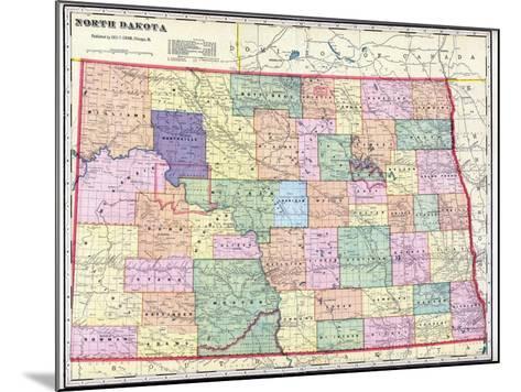 1911, North Dakota State Map, North Dakota, United States--Mounted Giclee Print