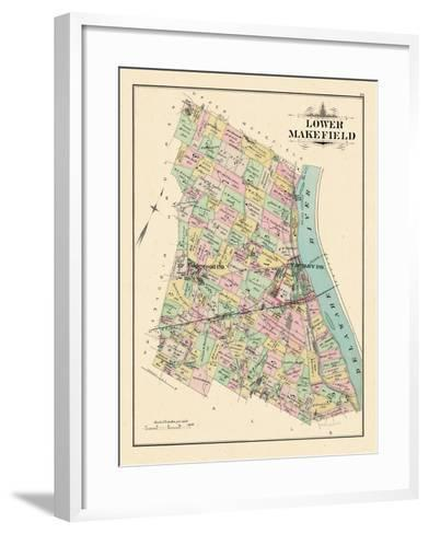 1891, Lower Makefield Township, Yardley, Edgewood, Pennsylvania, United States--Framed Art Print