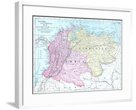 1913, Brazil, Columbia, Ecuador, Venezuela, South America--Framed Art Print