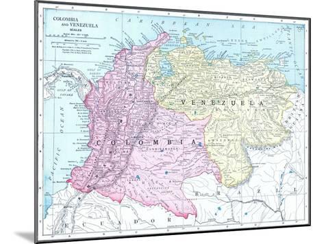 1913, Brazil, Columbia, Ecuador, Venezuela, South America--Mounted Giclee Print