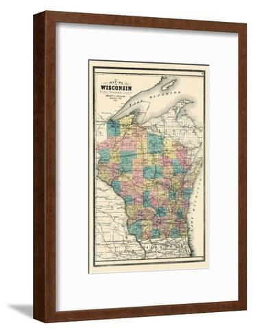 1889, State Map, Wisconsin, United States--Framed Art Print