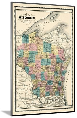 1889, State Map, Wisconsin, United States--Mounted Giclee Print