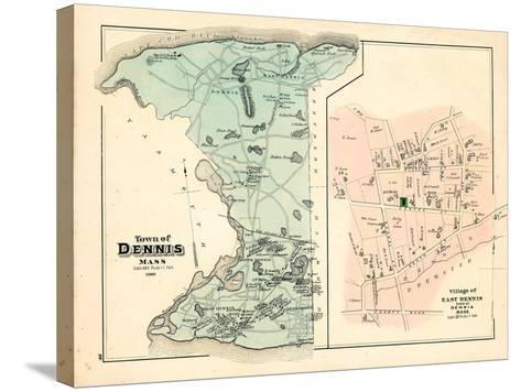 1880, Dennis Town, Dennis Village East, Massachusetts, United States--Stretched Canvas Print