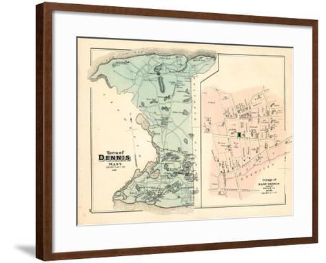 1880, Dennis Town, Dennis Village East, Massachusetts, United States--Framed Art Print