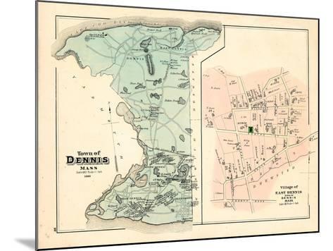 1880, Dennis Town, Dennis Village East, Massachusetts, United States--Mounted Giclee Print