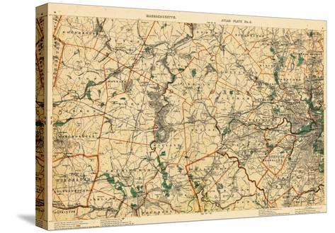 1891, Middlesex, Boston, Norfolk, Suffolk, Worcester, Massachusetts, United States--Stretched Canvas Print