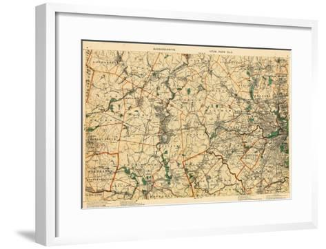 1891, Middlesex, Boston, Norfolk, Suffolk, Worcester, Massachusetts, United States--Framed Art Print