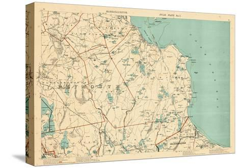 1891, Plymouth, Barstable, Halifax, Kingston, Sandwich, Acushnet, Massachusetts, United States--Stretched Canvas Print