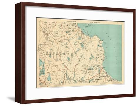 1891, Plymouth, Barstable, Halifax, Kingston, Sandwich, Acushnet, Massachusetts, United States--Framed Art Print
