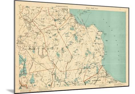 1891, Plymouth, Barstable, Halifax, Kingston, Sandwich, Acushnet, Massachusetts, United States--Mounted Giclee Print