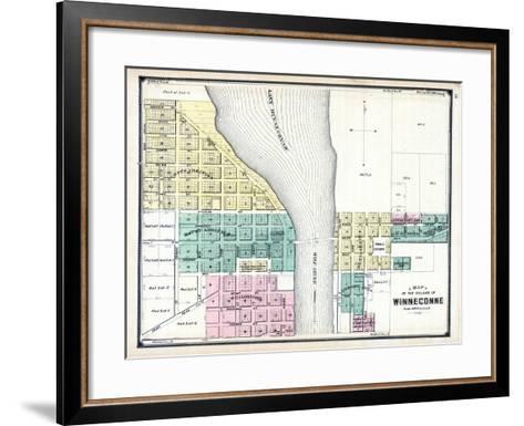1889, Winneconne, Wisconsin, United States--Framed Art Print