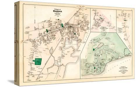 1880, Hyannis Village, Martons Mills Village, Cotuit Village, Hyannis Port Village, Massachusetts--Stretched Canvas Print