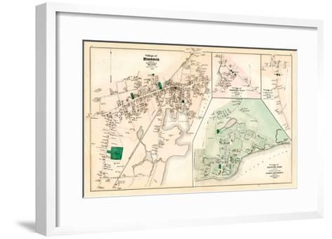 1880, Hyannis Village, Martons Mills Village, Cotuit Village, Hyannis Port Village, Massachusetts--Framed Art Print