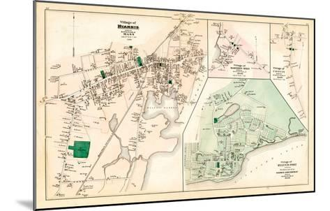1880, Hyannis Village, Martons Mills Village, Cotuit Village, Hyannis Port Village, Massachusetts--Mounted Giclee Print