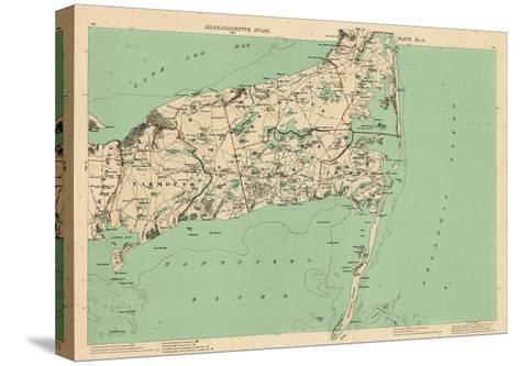 1891, Cape Cod, Barnstable, Orleans, Brewster, Harwich, Chatham, Dennis, Yarmouth, Massachusetts--Stretched Canvas Print