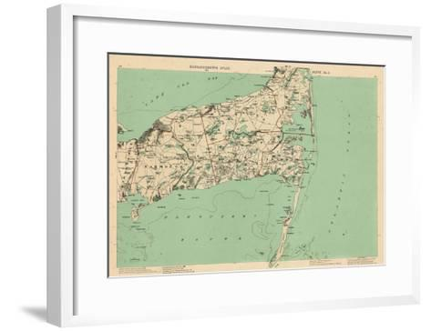 1891, Cape Cod, Barnstable, Orleans, Brewster, Harwich, Chatham, Dennis, Yarmouth, Massachusetts--Framed Art Print