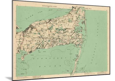 1891, Cape Cod, Barnstable, Orleans, Brewster, Harwich, Chatham, Dennis, Yarmouth, Massachusetts--Mounted Giclee Print