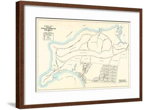 1905, Falmouth Town - Wild Harbor, Silver Beach, Massachusetts, United States--Framed Art Print