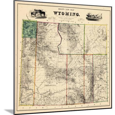 1883, Wyoming 1883 State Map, Wyoming, United States--Mounted Giclee Print