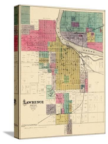 1887, Lawrence, Kansas, United States--Stretched Canvas Print