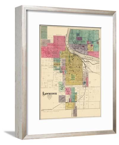 1887, Lawrence, Kansas, United States--Framed Art Print